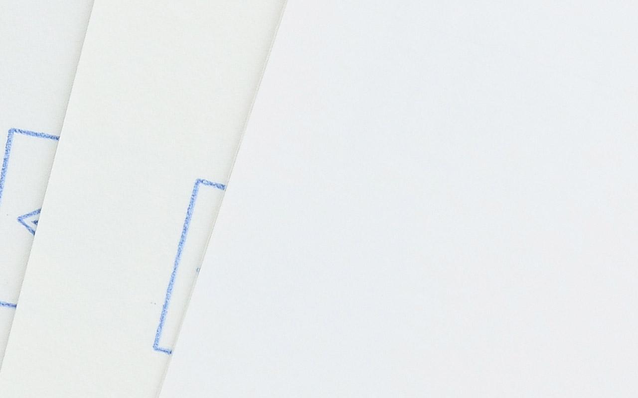 weiße Etiketten / Haftpapier