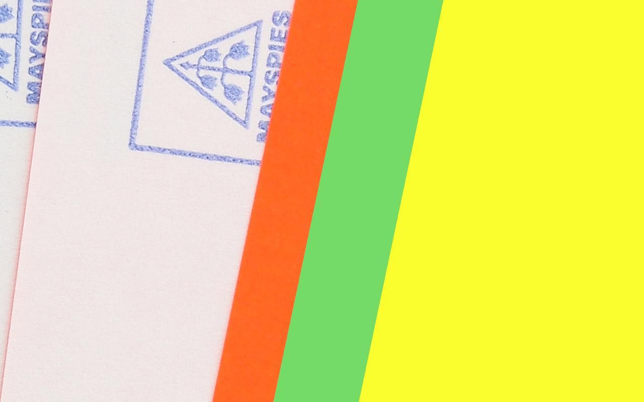 farbige Etiketten / Haftpapier