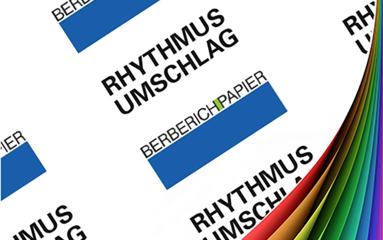 Rhythmus Umschlag ledergeprägt