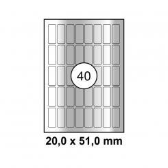 MAYSPIES® Premium Color Laser Silber Etiketten
