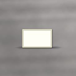 Trauerkarten, einzeln, 2-farbiger Rand