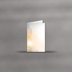 Trauerkarten, hochdoppelt, Ähre im Abendlicht
