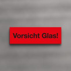LUMA Hinweisetiketten 'Vorsicht Glas'