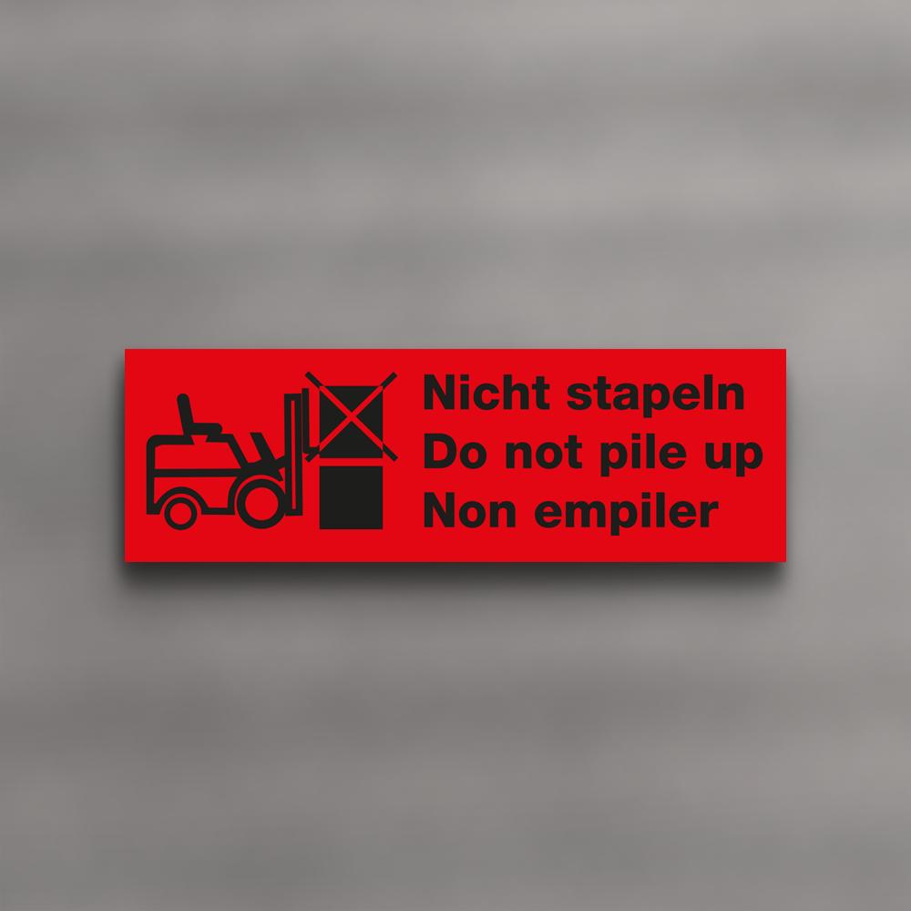 cfabe70f450 LUMA warning labels  Nicht stapeln